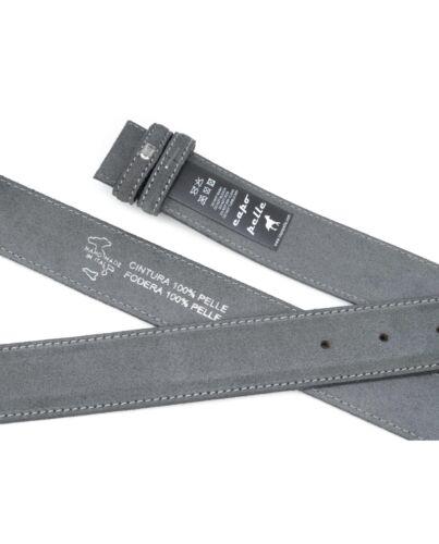 "Grey Suede Belt Strap 100/% Genuine Leather Adjustable Replacement Mens Belts 38/"""