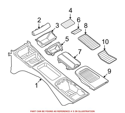 For BMW Genuine Console Compartment Rear 51166960686