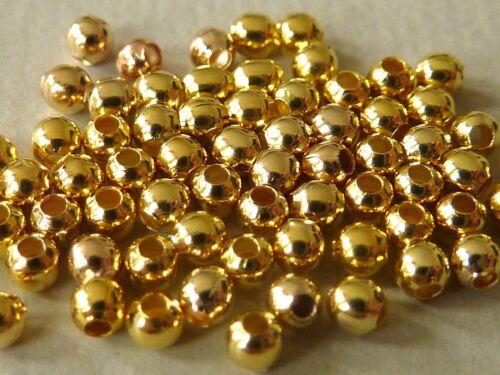 Métal entre Perle Boule Perle Or 2//3//4//5 mm Spacer sélection 2419