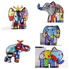 ROMERO BRITTO SET OF ALL 5 MINI/MINIATURE ELEPHANTS