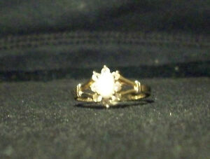 e61df53fc89d4 Details about Vintage Espo Signed 14KT GE Marked Yellow Gold Plated Faux?  Opal Rhinestone Ring