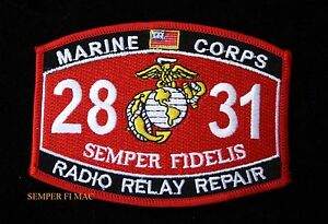 MOS 5591 FIELD MUSIC BUGLER COMM HAT PATCH US MARINES PIN UP USS FMF MWCS WOW