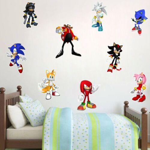 Hedgehog Sonic Games Wall Stickers Cartoon Vinyl Decal Kids Boys Room Art Decor