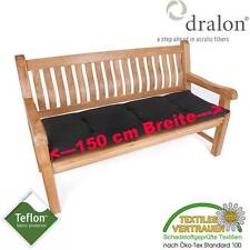 dralon® Teflon™ PREMIUM AUFLAGE FÜR BANK 150 x 50 CM ANTHRAZIT DUNKEL GRAU DICK