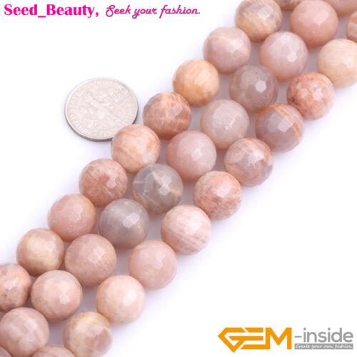 """Fabricación de joyería de piedras preciosas naturales Facetado Sunstone Perlas 15/"""" cuentas de belleza en lotes"""