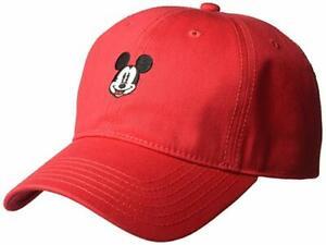 Disney-Mickey-Mouse-Gorra-roja-de-baseball-Ajustable