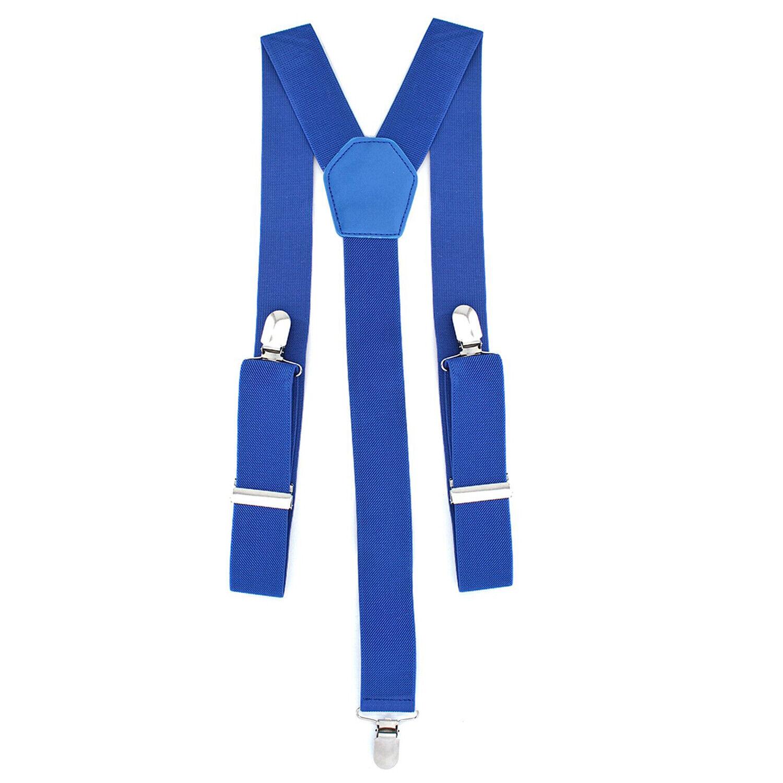 35mm Ancho Hombre con Clip Tirantes Ajustable Elástico Para Vaqueros Azul Real