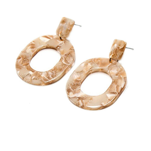 Fashion Women Exaggeration Acrylic Geometry Ear Stud Drop Dangle Jewelry Gift CB