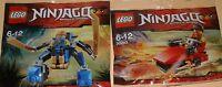 2x Lego Ninjago Roter Ninja Kai Und Blauer Ninja Jay Mech Mit Viel Zubehör Ovp