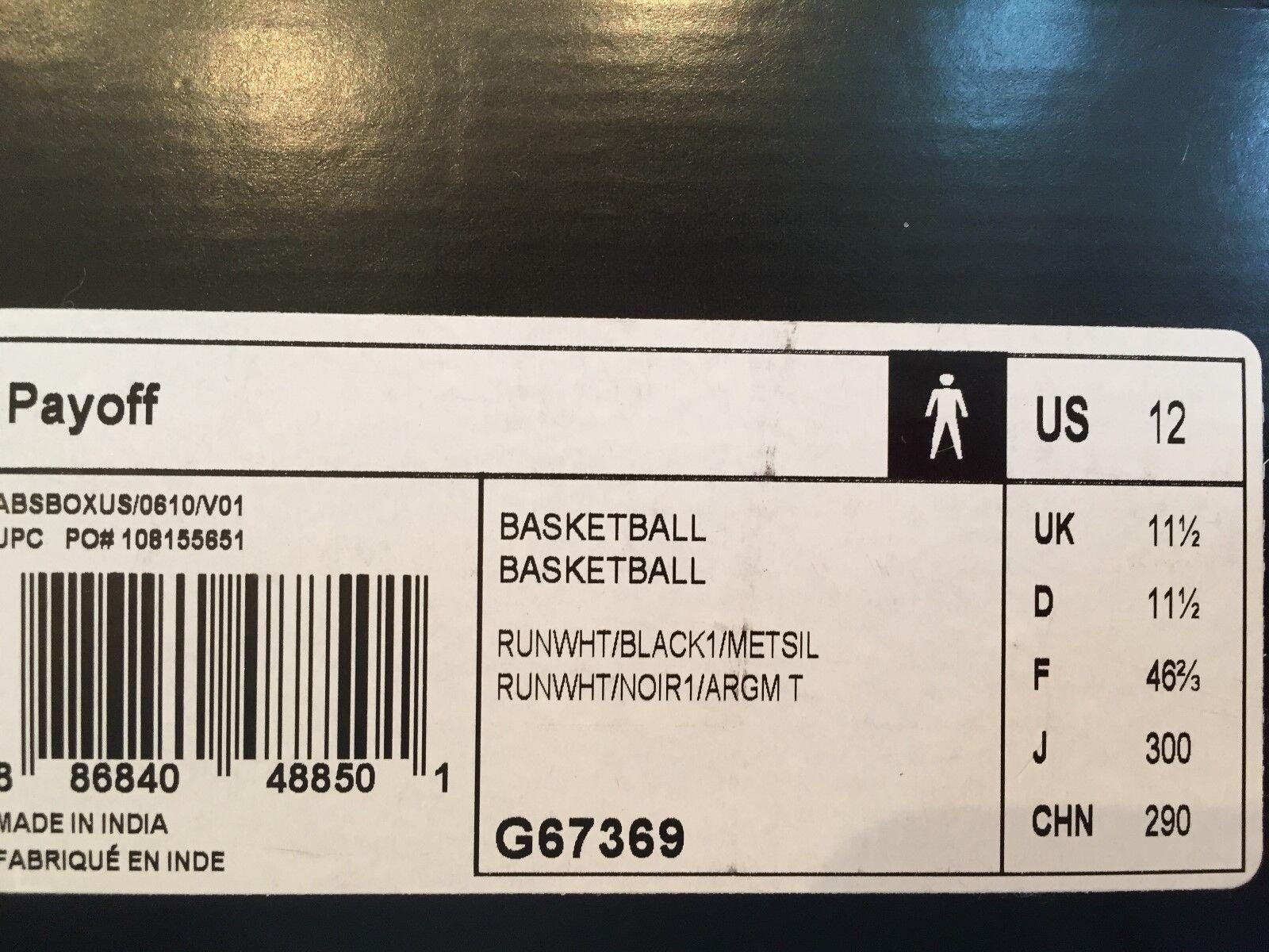 Adidas gewinn weiße schwarze box größe 12 neue mit box schwarze 200d23