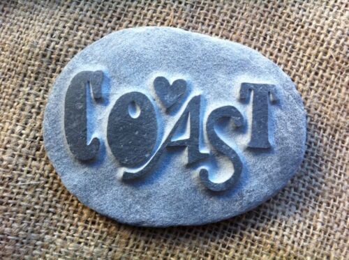 Hand carved personalised name stone perfect for new baby gift unique /& name