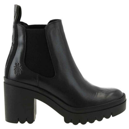 Fly London Womens Boots TOPE620FLY Casual Chelsea Ankle Rug Leather
