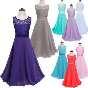 Flores-Nina-Princesa-Vestidos-De-Fiestas-Desfile-Boda-Dama-De-Honor-De-Ceremonia
