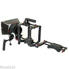 Filmcity Shoulder Stabilizer Camera Rig Cage with Matte box for DSLR Canon Nikon