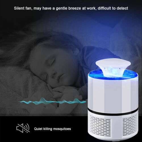 Electric Fly Bug Zapper Mosquito Insect Killer USB Powered LED Light Trap Lamp