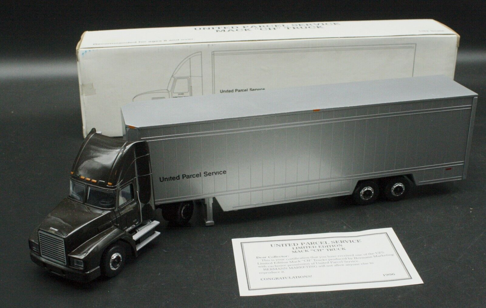 Hermann Marketing 1 42 UPS Mack CH Tractor Trailer Truck With Box