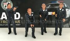 American Diorama 1/18 LAPD Style Police Officer Figures - Set of Four