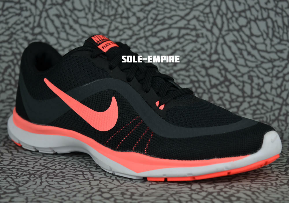 Nike wmns flex trainer 6 831217-011 training in der halle neue verkauf schwarze lava rosa schuhe