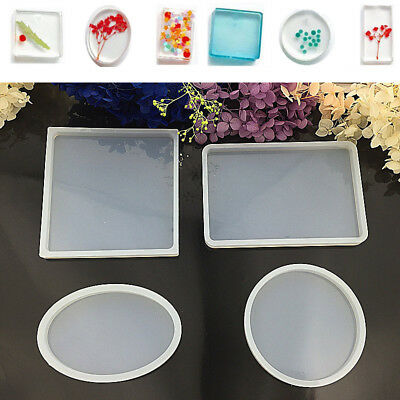 Rectangle Silicone Mold Bracelet Pendant Making Mould Resin Craft with Hole
