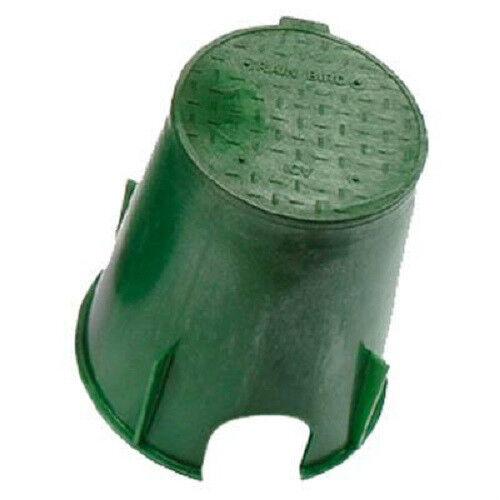 """L/'eau d/'irrigation Valve Case 7 /""""rond avec couvercle vert"""