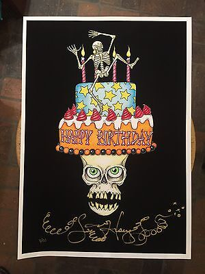 SKULL WITH MASK MARDI GRAS Jamie Hayes new orleans BEADS,signed giclee