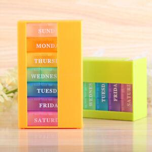 7-Tage-Pillenbox-Medikamentenbox-Tablettendose-21-Faecher-Medikamentendosierer