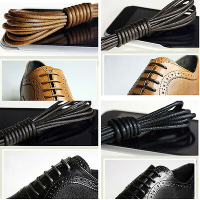 Waxed Round Shoe Laces Shoelace Bootlaces Leather Brogues multi color 27.6/'/'  EF