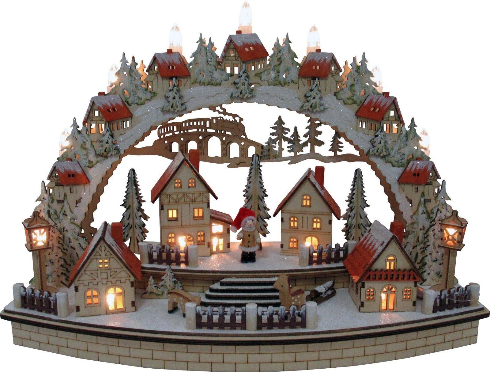 Lumières DEL Arc Schwibbogen Fenêtre Chandeliers Village Hivernal 2 les lanternes 10320