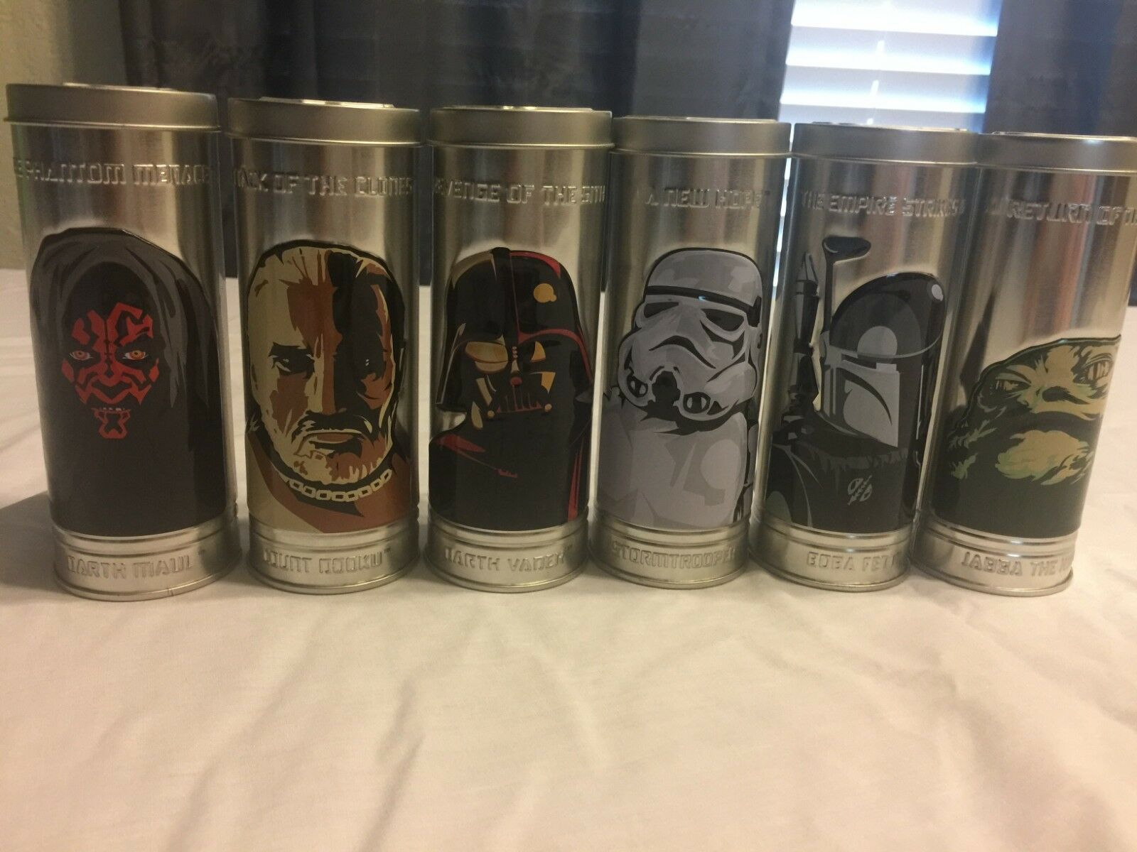 The whole collection of of of Burger Kings Star Wars watches. 8002c1
