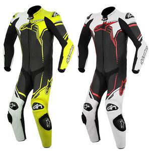 alpinestars gp plus leather motorcycle motorbike one piece 1 pc sports race suit ebay. Black Bedroom Furniture Sets. Home Design Ideas