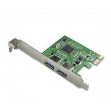 Full Height USB 3 3.0 PCIe PCI Express 2 port card adapter for desktop computer
