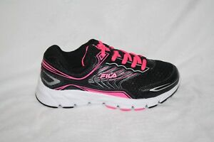 Girl/'s Youth FILA MEMORY GRANTED 3SR21218 Black//Pink Running Sneakers Shoes New