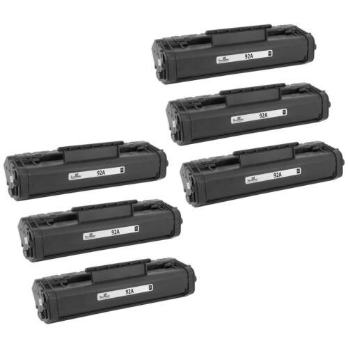 6PK emanufactured HP C4092A Toner Cartridge Black 2,5k HP 92A for HP 1100 1100a