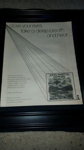 John Martyn Sapphire Rare Original Promo Poster Ad Framed!
