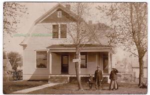 RESIDENCE-Springfield-MISSOURI-1910-Photo-POSTCARD-Home