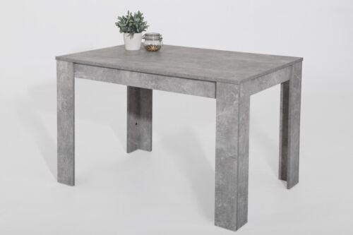 21638 Esstisch 120x80cm Küchentisch Tisch Beton Optik