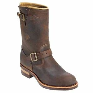 Chippewa-27911-Engineer-Mens-11-034-Tan-Brown-Bomber-Leather-Riding-Boots