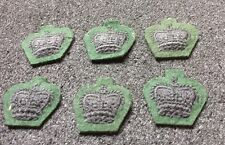 6 X Dark Green Black Crown Patch Cloth Badge - Uniform British  Military