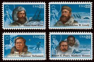 #2220-2223 22c Ártico Exploradores, Individuales, Nuevo Cualquier 5=