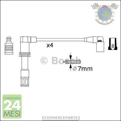 #56308 KIT CAVI CANDELE Bosch SEAT IBIZA IV Benzina 2002/>2009