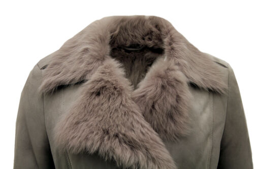 Trench Tie Toscana Coat Women's Sheepskin Belt Grey With tpxxqz1