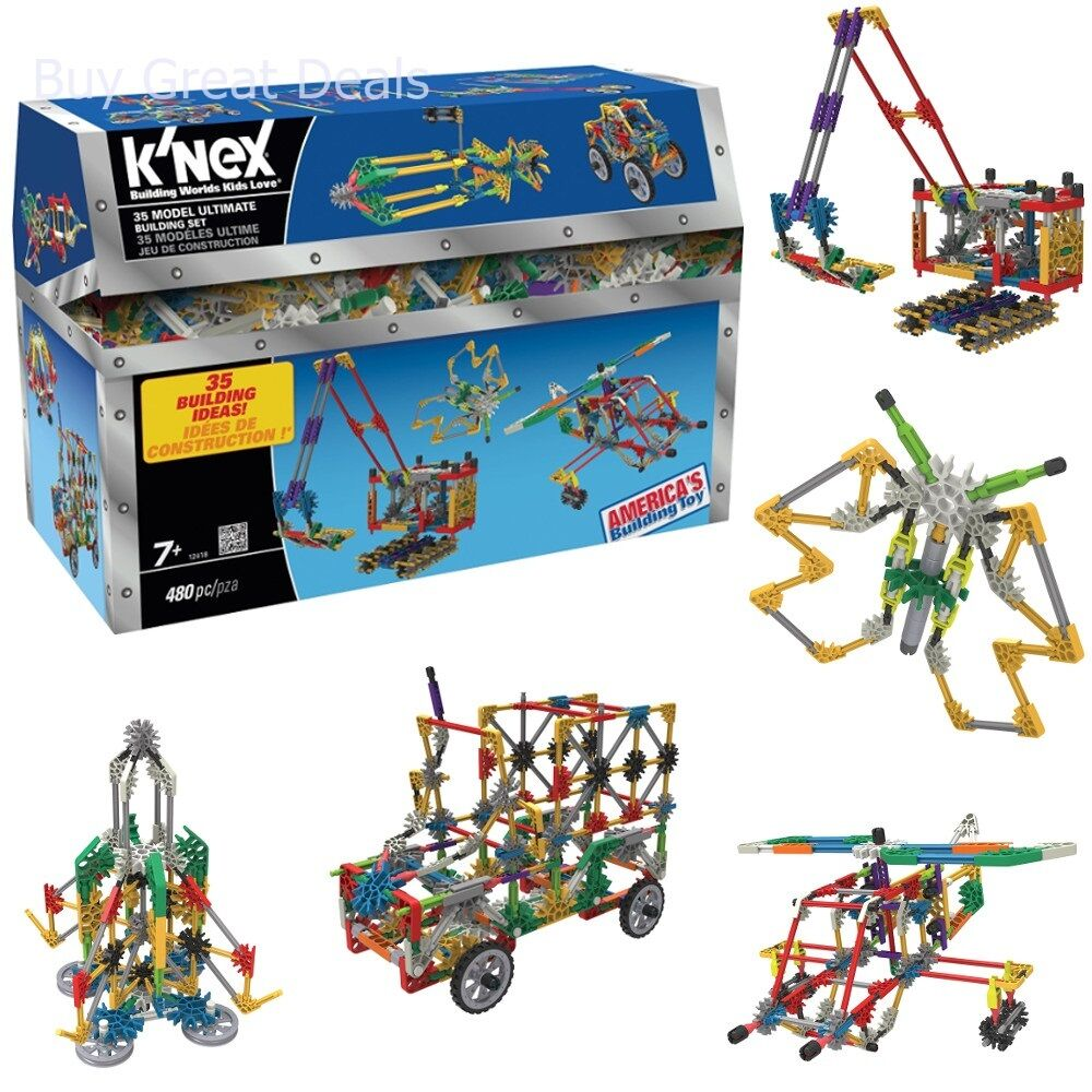K'Nex 35 Model Building Set, 35 Unique Models - 480 Pieces - New
