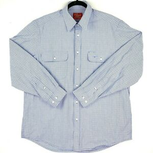 RM-Williams-Men-039-s-Size-XL-Blue-White-Check-Long-Sleeve-Business-Button-Up-Shirt