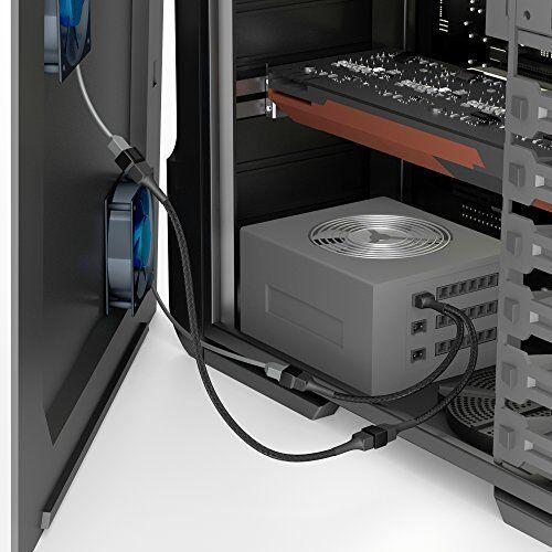 3-pin fan on 2x 3-pin fan Y-cable 0 KabelDirekt 3-pin fan extension cable 1 ft