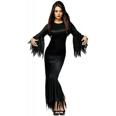 Madam Morticia Costume Adult Halloween Fancy Dress