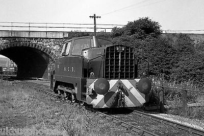NCB Sentinel 0-6-0 in shed Darfield Colliery 1983 Rail Photo