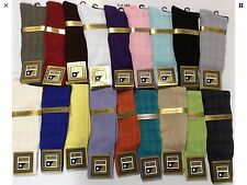MEN'S MID CALF ST.PIEL DRESSY CASUAL SOCKS FASHION COLORS  MADE IN USA