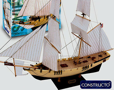 New Beginner Friendly Wooden Model Ship Kit By Constructo The Swift Ebay