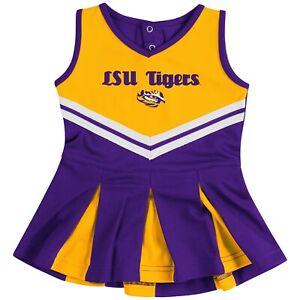 LSU-Colosseum-Infant-Girls-Pom-Pom-Cheer-Set-Size-3-6-Months