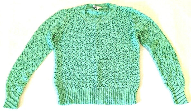 Cardigan Women/'s SM Pastel Mint Green Acrylic Knit 1970/'s